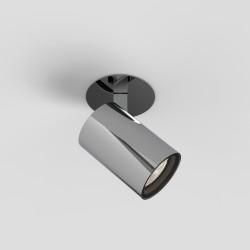 Aqua Polished Chrome Single Ceiling Recessed Spotlight IP44 using 1 x 6W Max LED GU10 Dimmable, Astro Lighting 1393008