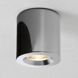 Kos Round Bathroom IP65 Ceiling Recessed Spotlight in Polished Chrome using GU10 LED 6W Lamp, Astro 1326001
