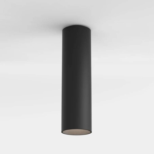 Yuma Surface 250 LED Ceiling Light Textured Black c/w 10.3W 2700K 538lm LED IP20 rated Dimmable, Astro 1399014