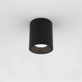 Kos Round 140 LED Bathroom Ceiling Recessed Light in Textured Black IP65 11.9W 3000K Dimmable Astro 1326017