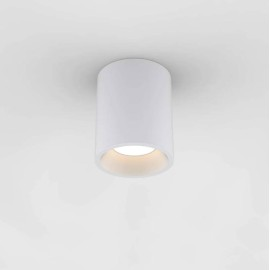 Kos Round 140 LED Bathroom Ceiling Recessed Light in Textured White IP65 11.9W 3000K Dimmable Astro 1326019