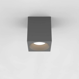 Kos Square 140 LED Textured Grey Ceiling Spotlight IP65 rated c/w 11.9W 3000K LED, Astro 1326021