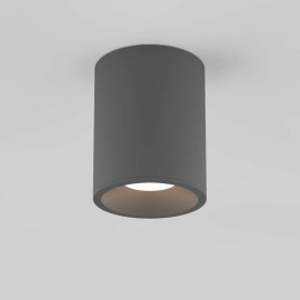 Kos Round LED Bathroom Ceiling Recessed Light in Textured Grey IP65 5.9W 3000K Dimmable Astro 1326024