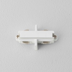 Matt White Track End-to-End Connector for use with Astro Lighting Track System, Astro 6020004