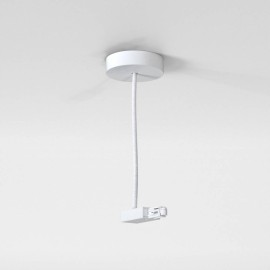 Astro Lighting Track Suspension Live End Supply in Matt White IP20 rated Dimmable, Astro 6020032