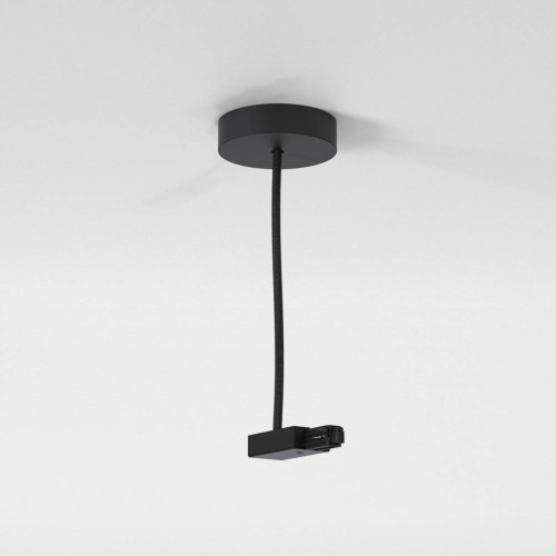 Astro Lighting Track Suspension Live End Supply in Matt Black IP20 rated Dimmable, Astro 6020033