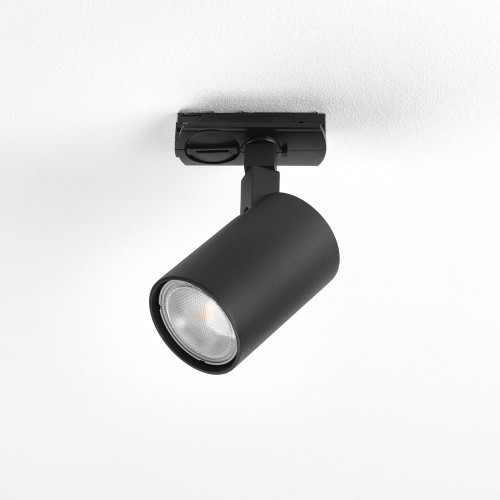 Ascoli Matt Black GU10 Track Spotlight IP20 Adjustable Dimmable for Astro Track Mounting Only, Astro 1286052