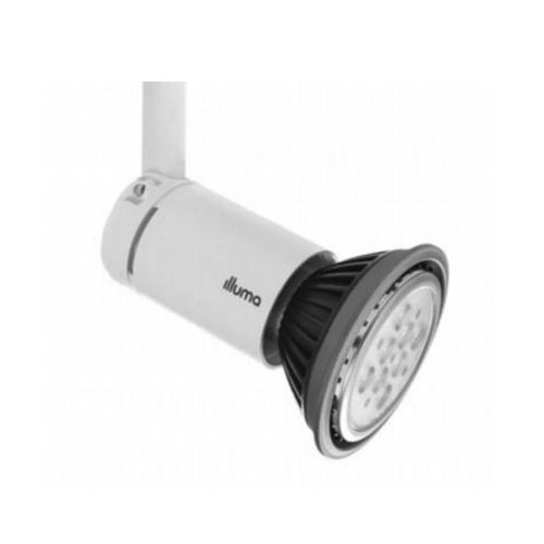 Illuma Topspot T310-WH/S White LED Spotlight for Single Track System E27/ES LED Lamp R60/R63/R80/PAR20/PAR30/PAR38