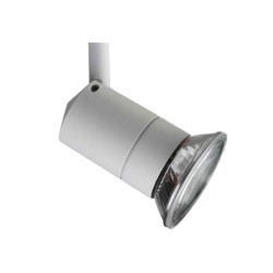 Illuma T325-WH/S Rocket Spotlight in White for 1-circuit Track System (Dimmable) using ES/E27 PAR30 LED Lamp