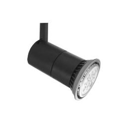 Illuma T326-BL/S Rocket Spotlight in Black with Single Switched Track Adaptor using E27/ES R60/R63/R80/PAR20 LED