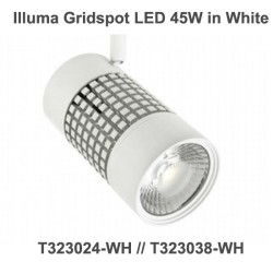 Illuma Gridspot 45W 4000lm LED Track Spotlight for 1 Circuit Track System with diferent Beams, Colour Temp, and Finishes