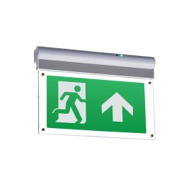 IP20 LED Emergency Exit Sign for Wall or Ceiling Mounting, Cool White 230V 4W LED with Arrow Up