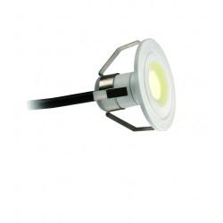 1W LED Marker Light 3000K 60lm in Matt White, IP44 Super Slim LED Marker with 2m Cable