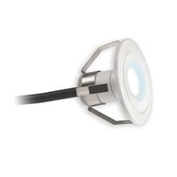 1W LED Marker Light 4000K 70lm in Matt White, IP44 Super Slim LED Marker with 2m Cable