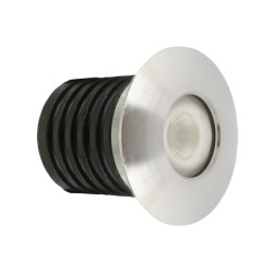 IP65 rated 1W LED Marker Light 3000K Warm White 85lm in Aluminium (Walkover LED)