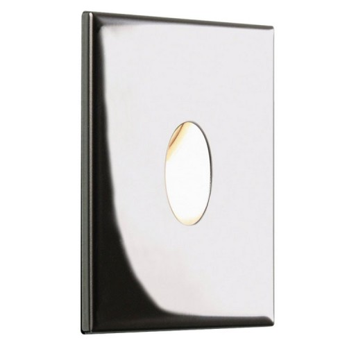 Tango 1W 3000K Square LED Wall Light in Polished Stainless Steel IP65 Dimmable LED Astro 1175005