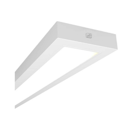 1510mm 54W LED Linear Luminaire in White 4000K 5291lm with Microprism Diffuser for Ceiling Surface Mounting or Suspension, Ansell AGELED2X5