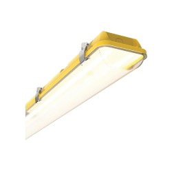 Tornado 110V LED Luminaire 58W 1566mm / 2x5ft 4000K IP65 Weatherproof Yellow Casing Non-Dimmable, Ansell ATORLED2X5/110V