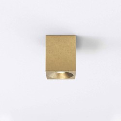 Kos Square LED Ceiling Recessed Light in Coastal Brass IP44 8.1W 3000K Dimmable Astro 1326038