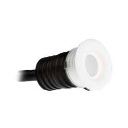 IP44 1W LED Micro Marker Light 4000K Cool White 350mA 70lm in White for Wall / Ceiling Lighting
