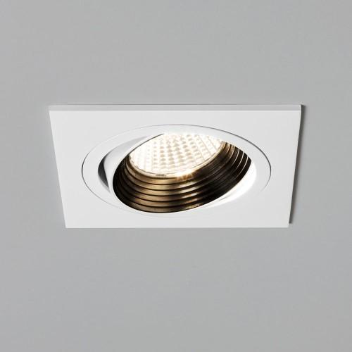 Aprilia Square LED Downlight (adjustable) in Matt White 6.1W 2700K LED IP21 Dimmable, Astro 1256026
