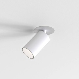 Can 50 Single Matt White LED Flush Fire-Rated Ceiling Adjustable Spotlight 7.5W 3000K Dimmable Astro 1396017