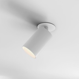 Can 75 Matt White 12.6W 985lm 3000K Adjustable LED Recessed Spotlight Dimmable Ceiling Mount, Astro 1396010