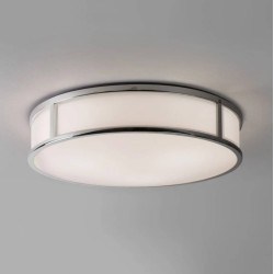 Mashiko 400 Round Bathroom Light in Polished Chrome IP44 3 x E27/ES LED Lamps Dimmable for Wall / Ceiling Astro 1121026