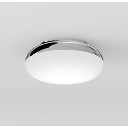 Altea 150 LED Round Polished Chrome Light IP44 7.7W 346lm 2700K Dimmable Flush Wall / Ceiling, Astro 1133004