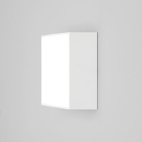 Kea 140 Square LED Light in Textured White IP65 3000K 5.3W LED Bulkhead for Wall/Ceiling, Astro 1391005