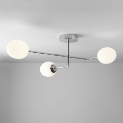 Kiwi 3 Lights Pendant Light in Polished Chrome with Oval Diffusers IP44 21.2W 2700K 1575lm, Astro 1390005