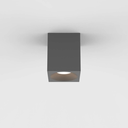 Kos Square 100 LED Textured Grey Ceiling Spotlight IP65 rated c/w 5.9W 3000K LED, Astro 1326027