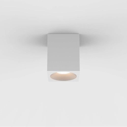 Kos Square 100 LED Textured Grey Ceiling Spotlight IP65 rated c/w 5.9W 3000K LED, Astro 1326028