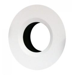 Round Fixed Baffled Bezel in Matt White for ELAN LED Downlights (Bezel Only)