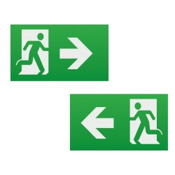 Running Man Legend with Left / Right Facing Arrow (kit of 2) for EXIT3MLE Emergency Exit Light