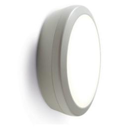 IP65 19W 4000K 1250lm Round White LED Bulkhead with 3h Emergency Luceco LBH154K3M
