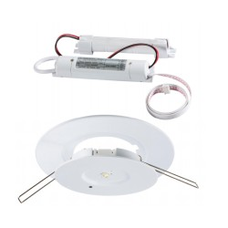 3W LED Emergency Downlight 3h Non-Maintained 5500K in White with Adjustable Trim (70-130mm Cutout)
