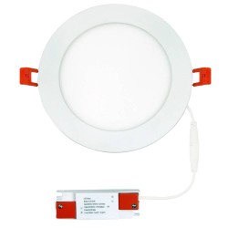 130mm Cutout IP44 9W 3000K-6500K CCT Switchable LED Round Panel 145mm Diam Non-Dimmable in White ALPHA-CT-9W