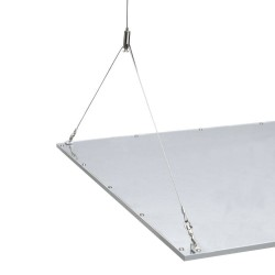 Y-shaped LED panel suspension kit with Stainless Steel Wires and Adjustable Length (max. 130cm Drop)
