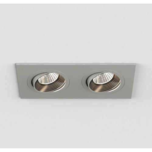 Aprilia Twin LED Adjustable Downlight Anodised Aluminium c/w 2 x 7W 3000K LED IP21 rated, Astro 1256002