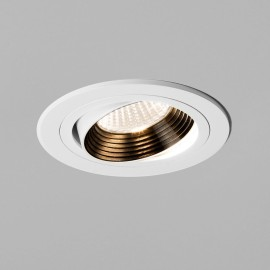 Aprilia Round Fire Rated LED Downlight Adjustable in Matt White 6.1W 604lm 2700K LED IP21, Astro 1256013