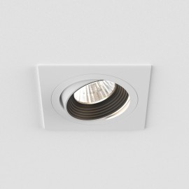 Aprilia Square Fire Rated Tilting LED Downlight in Matt White 6.1W 2700K LED IP21 Dimmable, Astro 1256014