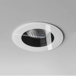 IP65 Fire Rated Vetro Round White LED Downlight 6W 2700K 594lm, Dimmable LED Recessed Light