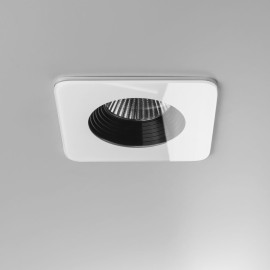 Vetro Square White LED Downlight IP65 rated 6W 3000K Warm White, Dimmable LED Recessed Light Astro 1254014