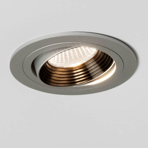 Aprilia Round LED Downlight (adjustable) in Anodised Aluminium 6.1W 3000K LED IP21 Dimmable, Astro 1256029