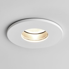 Obscura Round Fire Rated Fixed LED Downlight in Matt White IP65 6.5W 2700K Dimmable LED Astro 1381003