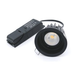 8W Baffled IP44 Dimmable Fire Rated LED Downlight 3000K (no bezel) Warm White 840lm ELAN-BF-3K