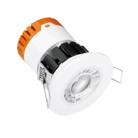 IP65 Fixed Dimmable Integrated 8W LED Downlight Fire Rated 4000K in Matt White 60deg Beam Enlite EN-DE8/40