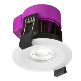 IP65 6W Fire Rated LED Downlight Dimmable in White with Adjustable Colour Temperature 3000K/4000K/5000K