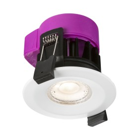 IP65 Fire Rated 6W Dimmable LED Downlight 3000K 595lm in White 72mm Cutout Knightsbridge RW6WW
